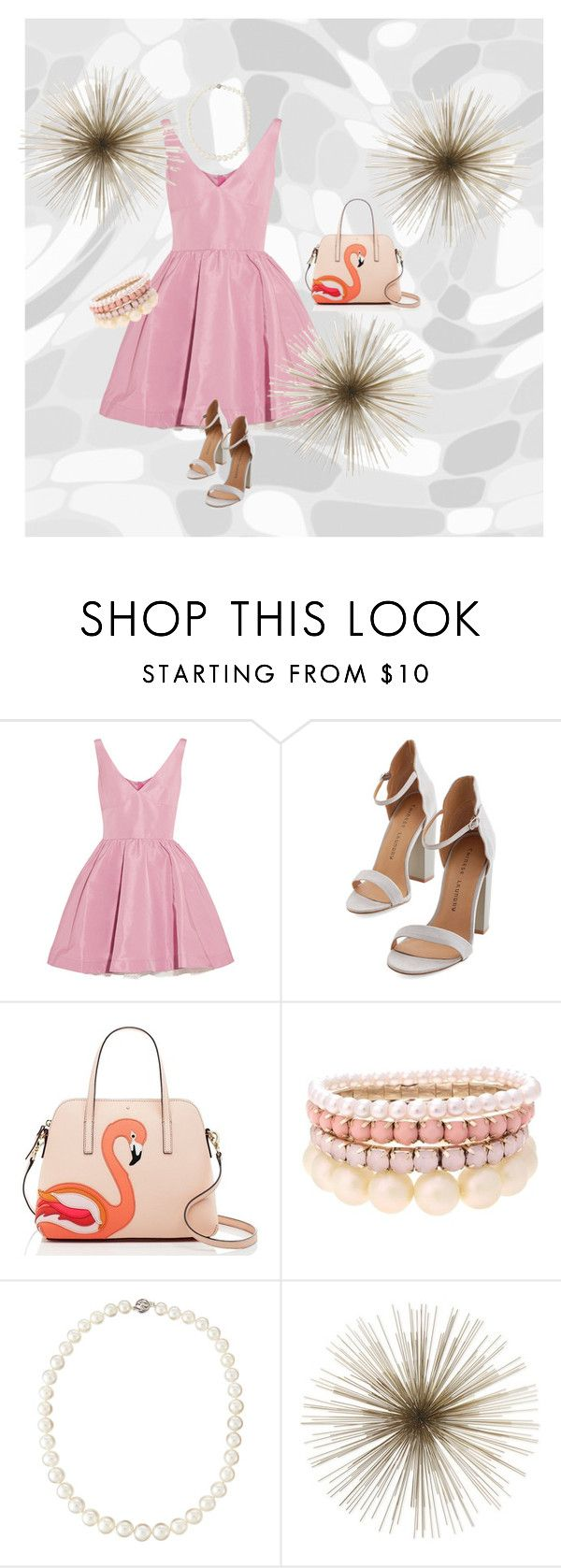 """Summer dresses combos #1"" by jajalamajala ❤ liked on Polyvore featuring moda, RED Valentino, Kate Spade, Lipsy y Belpearl"