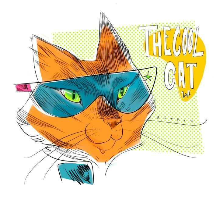 Cool cat by astrid   #cat