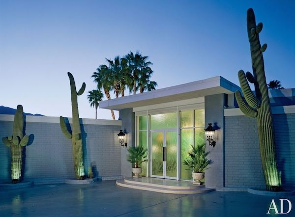 Front Entry | Dorothy Draper | Cactus Trees | Palm Springs | Mid Century  Modern