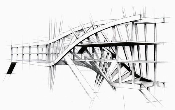 Intertwined Steel Architecture by Artur Nesterenko Alexandrovich, via Behance
