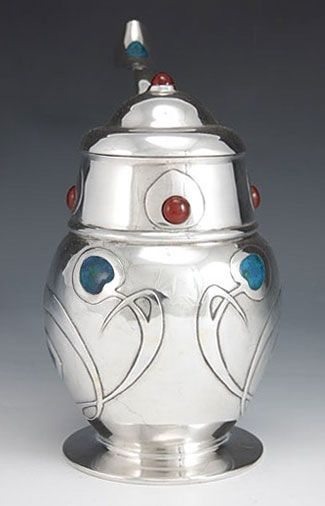 Silver & Enamel Cymric Tankard by Archibald Knox for Liberty & Co