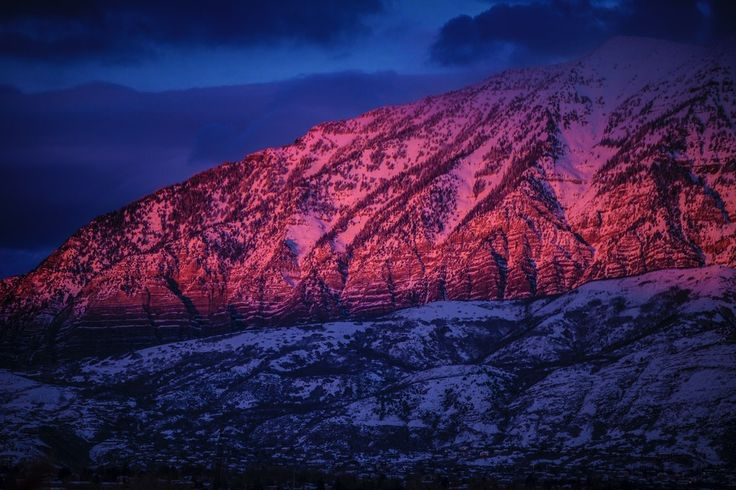 Provo, Utah  #provoutah #mountains #mountainranges #pinksky #sky #sunset #reflection #nature #landscape