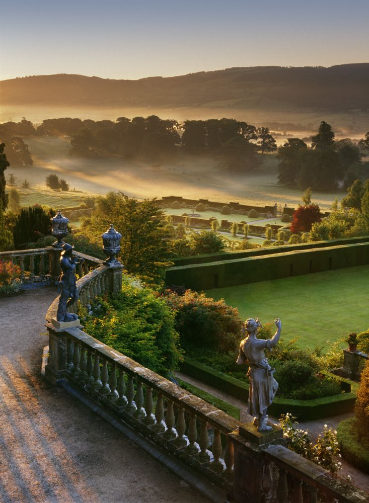 Gardens at Powis Castle, Wales...