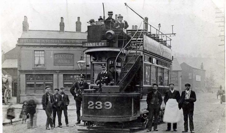 Tram at Woodseats, Sheffield. Chantrey Arms Pub is still there. #socialsheffield #sheffield