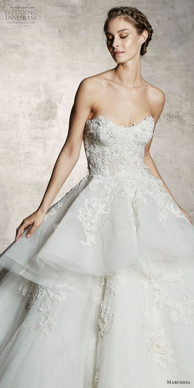 Lace over tulle wedding dress january 2019  best Wedding dresses  images on Pinterest  Gown wedding