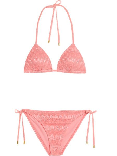 shimmer bikini koraal