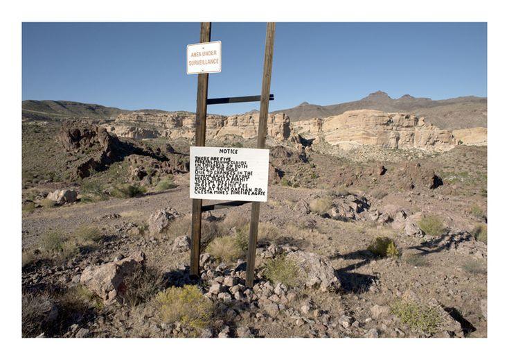 Mine Notice near Oatman, Arizona, USA- Noel Hodnett
