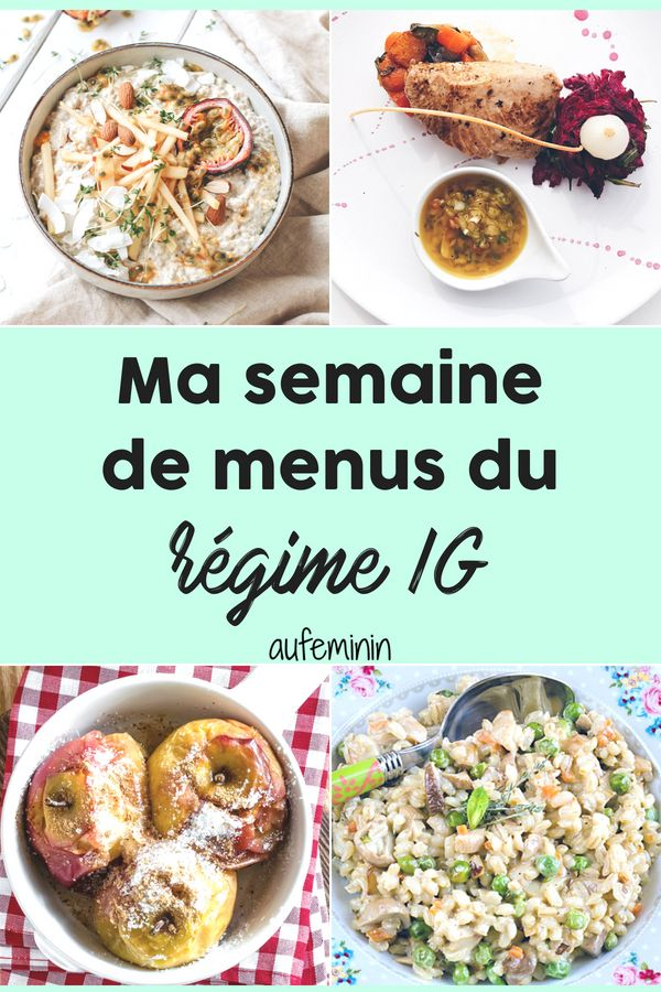 Menus Regime Ig Une Semaine D Idees Menu Index Glycemique Aliments Ig Bas Comment Manger Equilibre Menu Regime