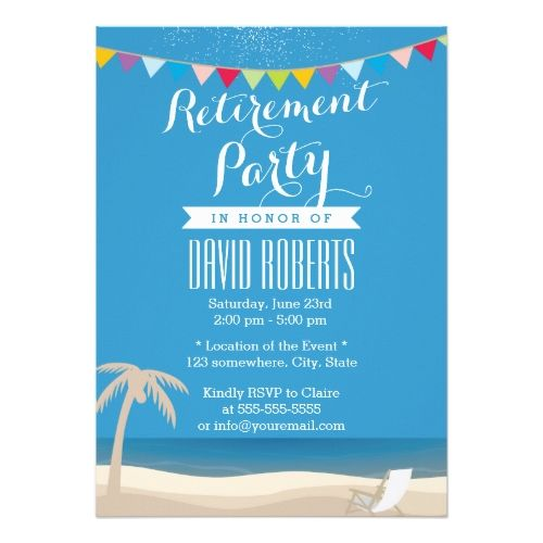 The 25 best Retirement party invitations ideas – Invitation Cards for Retirement Party