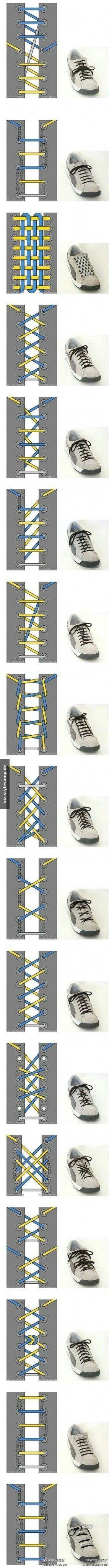 Methoden wie man Schuhbänder binden kann