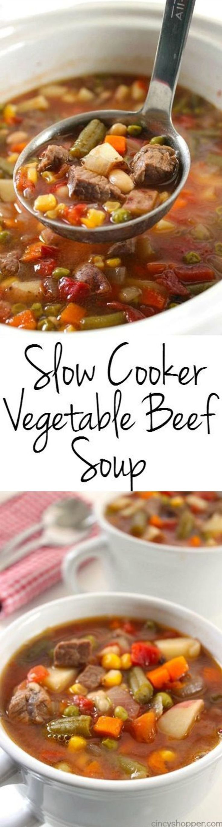 9. Crock Pot Vegetable Beef Soup!