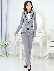 Juego De La Oficina Señora Manera Las Chaqueta Pantalones Office Uniformoffice Wearblazer