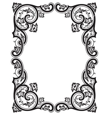 Free Vector   Antique frame engraving vector 149688 - by milalala on VectorStock®