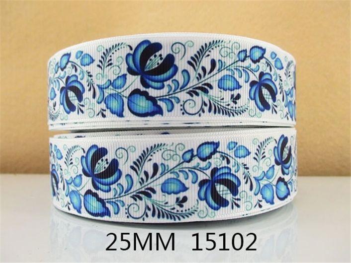 1 ''(25 мм) цветы листьев печатные ленты Grosgrain ленты diy Hairbow одежды Supplie, DIY материалы ручной работы, свадебный подарок, 50Yc1255 купить на AliExpress