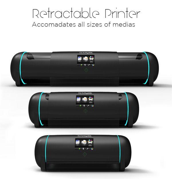 Retractable Printer adjusts its size to your needs | Ubergizmo