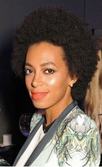 Solange Knowles Cannes 2013 Short Afro Curly Custom Full Lace Human Hair Wig - All Wigs - EvaWigs