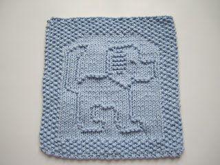 Free Knitting Pattern - Dishcloths & Washcloths : Tail A Wagging Dishcloth