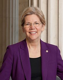 Elizabeth Warren(1949 - ) -an American academic and politician, the senior U.S. Senator from Massachusetts...a member of the Democratic Party,...previously a Harvard Law School professor specializing in bankruptcy law. She has publicly feuded with Republican presumptive nominee Donald Trump / Warren is the most strongly advocates who oppose TPP bill even be regarded as the main opposition leader of the party's president Obama/ ...Time Magazine's 100 Most Influential People in 20/09/10/ 15.