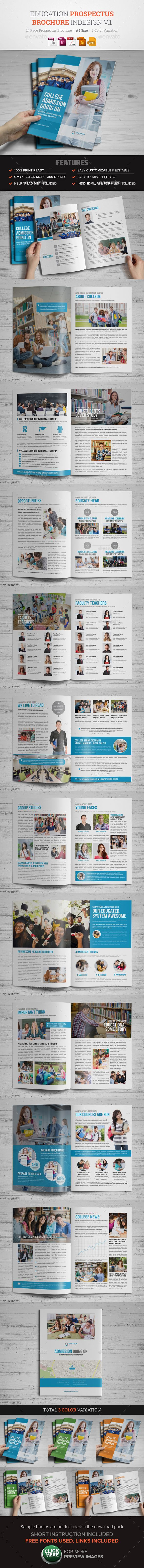 Education Prospectus Brochure Design Template Vector EPS, InDesign INDD, AI Illustrator. Download here: https://graphicriver.net/item/education-prospectus-brochure-design-v1/17073024?ref=ksioks