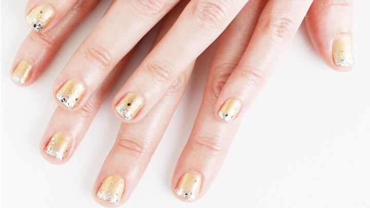 Nail Art How-To:  Chic Champagne Nails- Nails for New Year's Eve