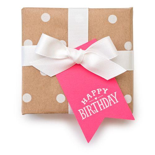 happy birthday pink tag // Sugar Paper LA