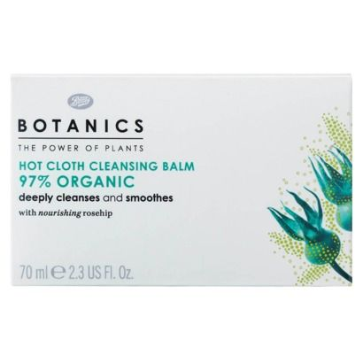 Botanics Organic Hot Cloth Cleansing Balm - 2.3 oz $8.50 at Target. BHG 9/2013. Scent & skin-softening texture. Deep cleans pores without leaving skin dry. Compare to $50 for 50ml at Nordstrom Eve Lom Cleanser with warm clove scent.