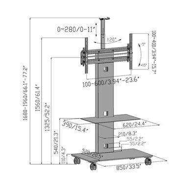 Aluminum Tv Cart