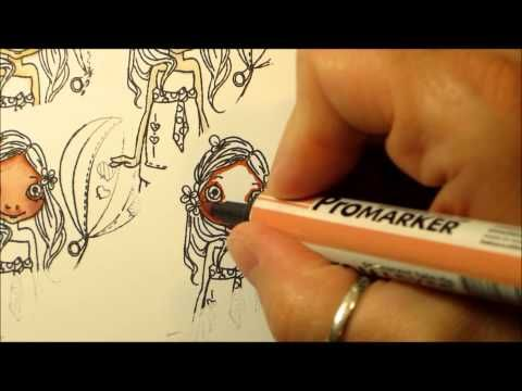 Colouring Skin tones with Letraset Promarkers