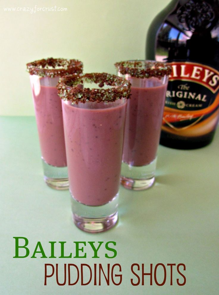 Baileys Pudding Shots | Pudding Shots, Puddings and Baileys Irish ...