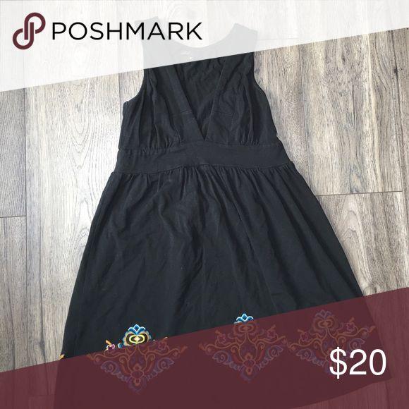 Black v neck dress Soft and stretchy v neck black dress vfish Dresses Mini