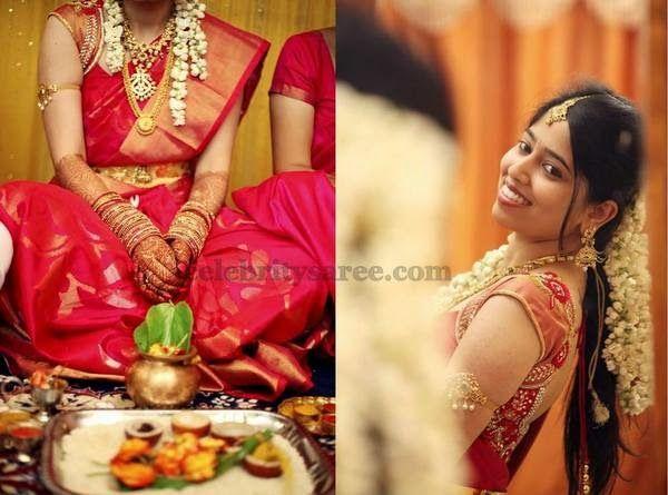 Bride in Mugdhas Wedding Blouse | Saree Blouse Patterns