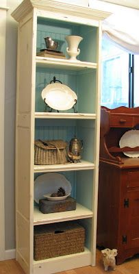 My Repurposed Life™: How to: Bi-fold doors into bookcase {Blue Roof Cabin}