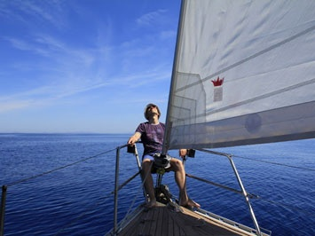 Nothing more relaxed than sailing