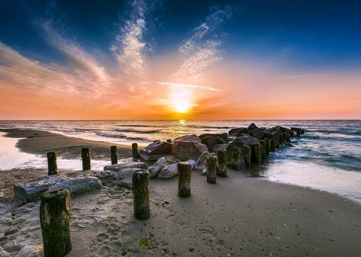 Photograph Sunset on beach. by Maciej Bledowski on 500px Sunset on beach, Baltic Sea. Poland