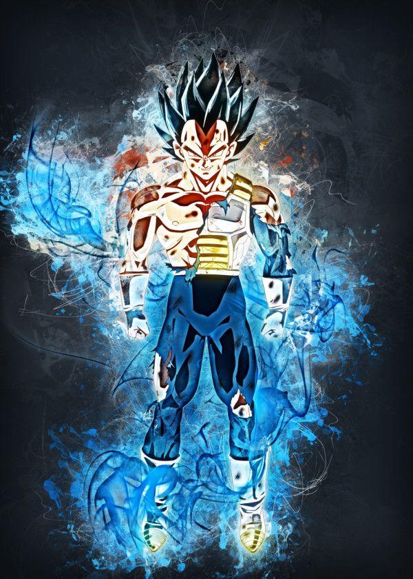 Vegeta Poster By Trần Văn Dũng Displate Dragon Ball Art Dragon Ball Super Dragon Ball