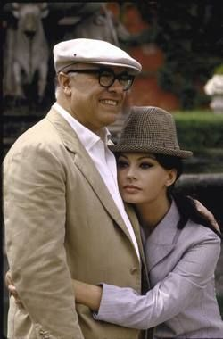 Sophia Loren & Carlo Ponti at their villa, 1964