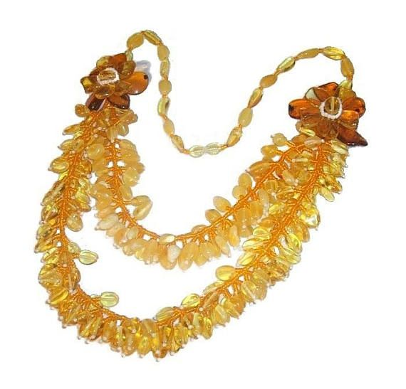 Natural stone amber necklace adult Baltic amber necklace