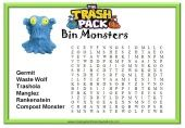 Trash Pack word search and other Trash Pack printables