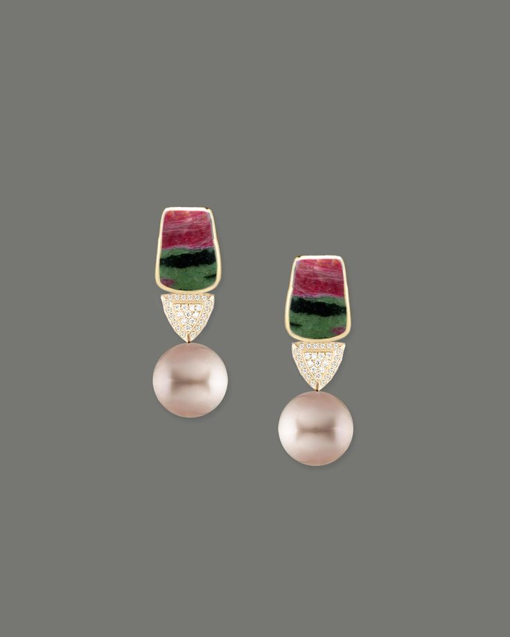 zoaiste ,diamond and grey Tahitian pearl