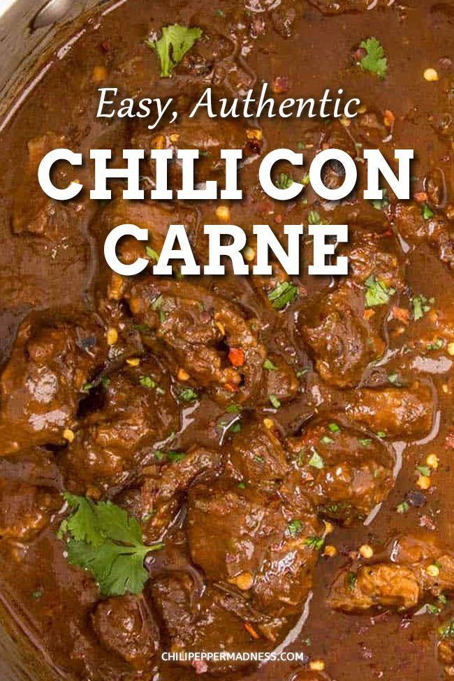 Chili Con Carne Chili Con Carne Stew Meat Recipes Con Carne Recipe