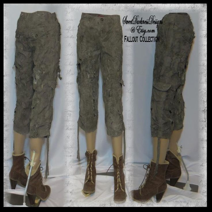 Post APOCALYPTIC PANTS WOMENS Mad Max Fury Road Pants Army Drab Fallout Clothing Womens Size 2 Zombie Wasteland Fashion by WastelandWearable by WastelandWearable on Etsy