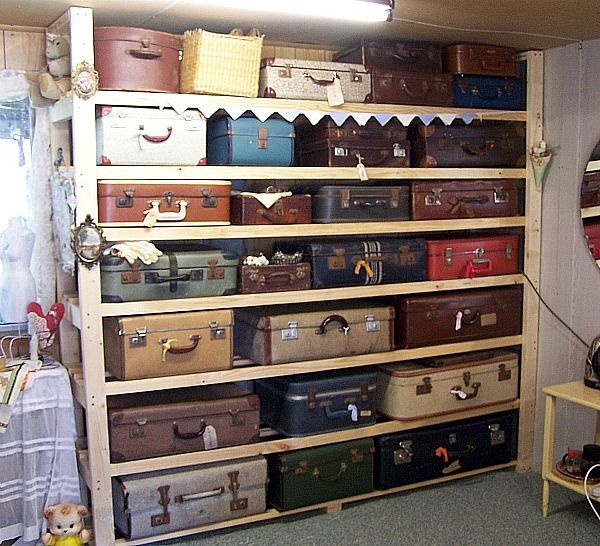 Old suitcases = great storage idea.