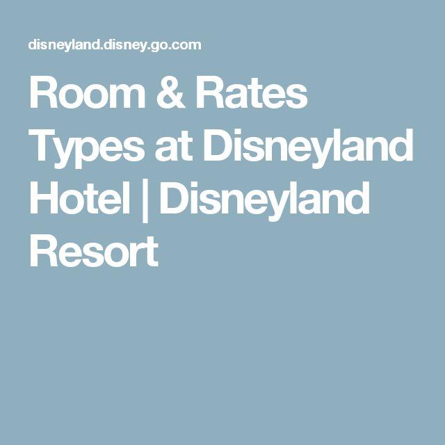 Room & Rates Types at Disneyland Hotel   Disneyland Resort