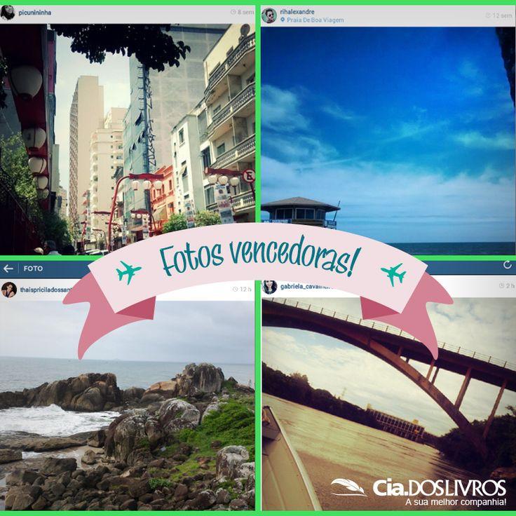 """#PromoCiadosLivros  """"Você por lugares incríveis com a Cia.!!!"""" do Instagram chegou ao fim! :-( :-)  Os quatro grandes sortudos que tiveram as suas fotos escolhidas foram: Richard (@rihalexandre), Gabii (@gabriela_cavalheiro), Thais Pricila dos Santos (@thaispriciladossantos) e Beatriz Cavalcante (@picunininha).   Agradecemos imensamente a criatividade e a participação de todos! Aproveitamos para convidá-los a estarem ligadinhos nas próximas!!! ;-)   Um forte abraço do Prof. Horácio! 8-)"""