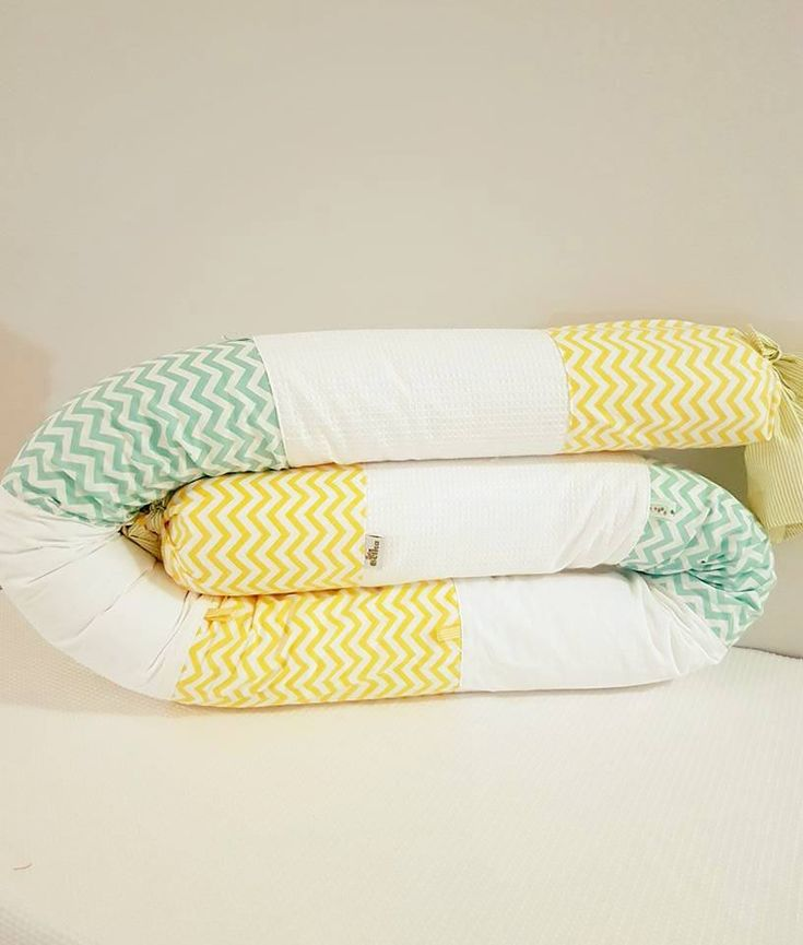 lemon and mint snake pillow, bumper pillow, baby bumper, new born gift, baby pillow, baby crib / bed accessories, yellow pillow by BelkaBoutique on Etsy
