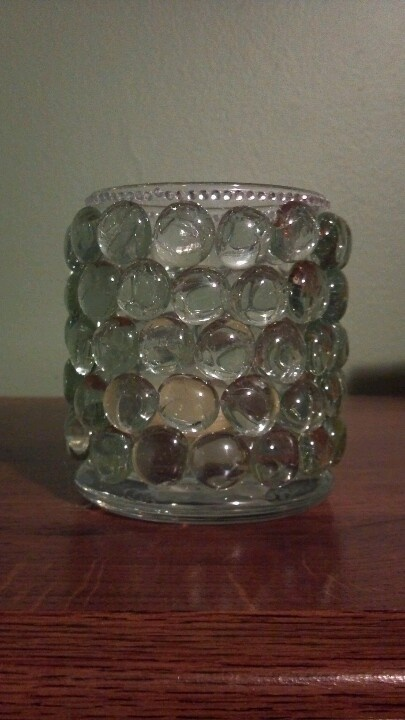 Dollar Store Candle Holder And Glass Beads Dollar Store