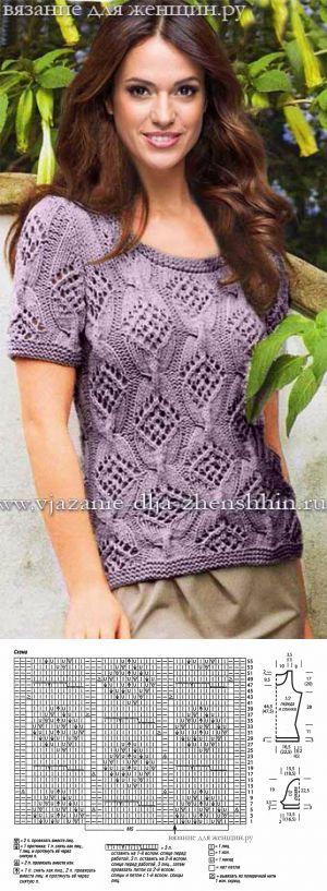 Schöne Bluse mit durchbrochenen Muster