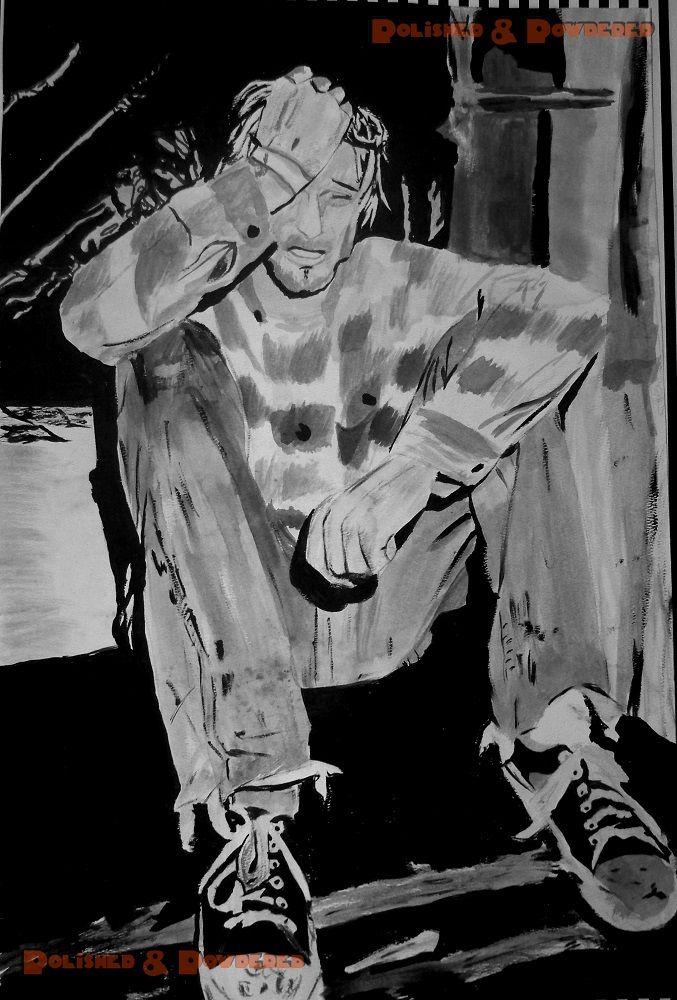 Kurt Cobain (high school painting)