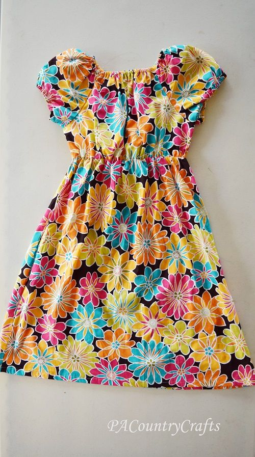 Teen Peasant Dress Pattern and Tutorial | PA Country Crafts                                                                                                                                                                                 More