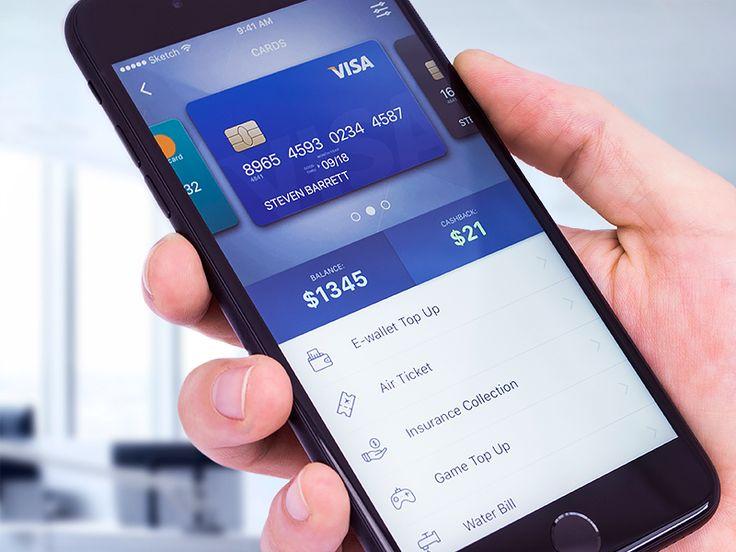 Banking App Design - Cards UX/UI